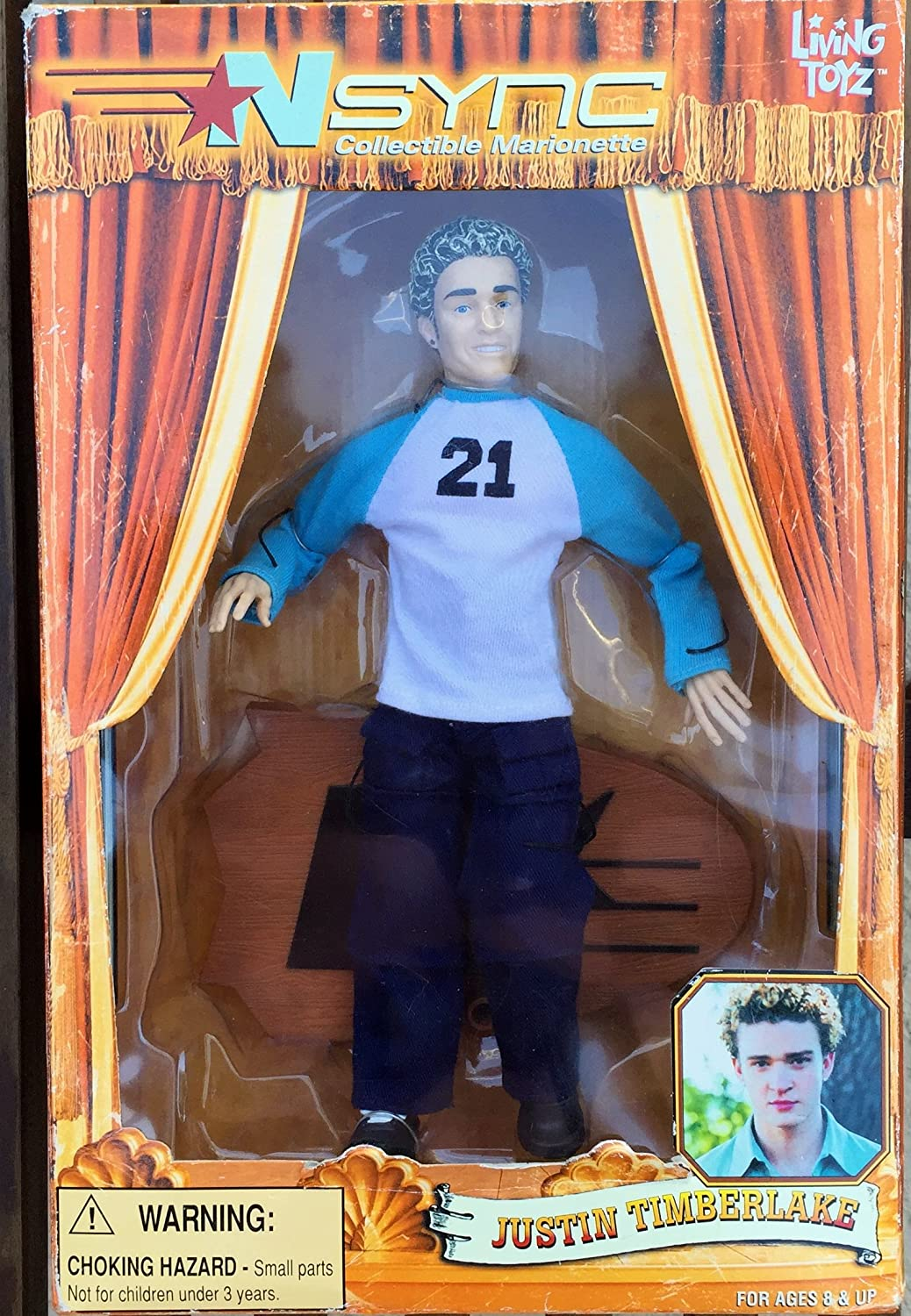 'N Sync Marionette Doll: Justin Timberlake Living Toyz 01510