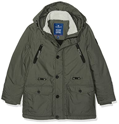 watch various styles quality products TOM TAILOR Kids Boy's urban track parka Jacket, Green (grey ...