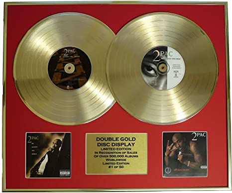 Ec 2pac Dual Gold Record Display Limited Edition Coa Me Against The World All Eyez On Me Küche Haushalt