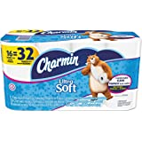 "Charmin 94045  PGCCT Ultra Soft Bathroom Tissue, 2-Ply, 4"" x 3.92"", White, 154 per Roll, 16 Roll per Pack (Pack of 16)"