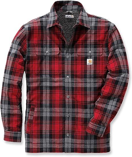 TALLA S. Carhartt .102333.316.s004Hubbard Sherpa Lined Camisa para Hombre, Color: Musgo, tamaño: pequeño