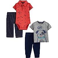 Simple Joys by Carter's 4-Piece Bodysuit, Top, and Pant Set Bebé-Niños, Pack de 4