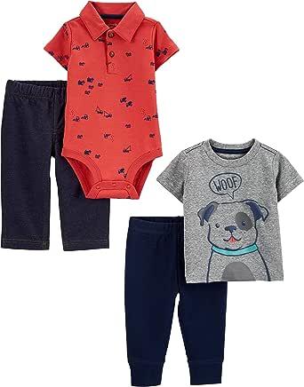 Simple Joys by Carter's Conjunto de 4 Piezas de Body, Parte Superior y pantalón Bebé-Niños, Pack de 4