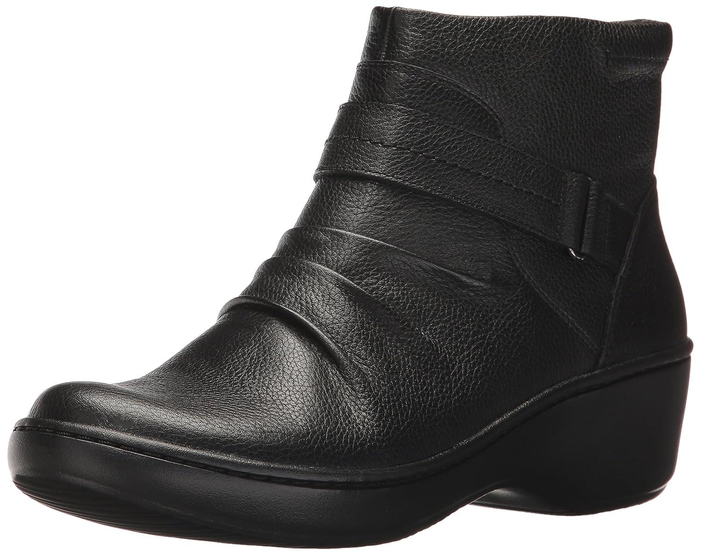CLARKS Women's Delana Fairlee Ankle Bootie B01NBK8QFV 5.5 B(M) US|Black Leather