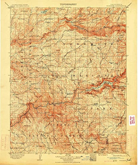 Amazon Com Yellowmaps Yosemite Ca Topo Map 1 125000 Scale 30 X 30