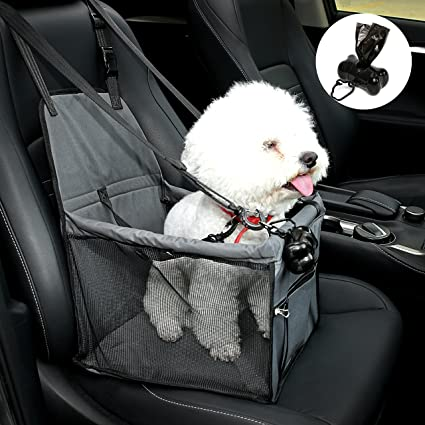 NO Collapse Dog Car Booster Seats Safety Seat Cover With Belt Non
