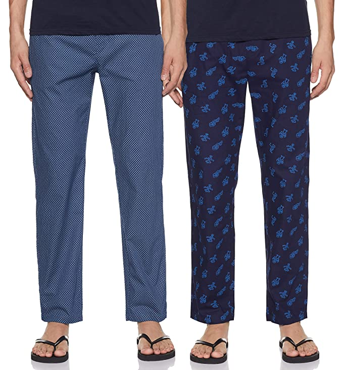 Longies Men's Printed Regular Pajama Bottom
