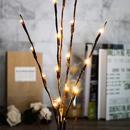 Sensational Amazon Com Pack Of 10 Led Light Olive Branch Lighted Tree Interior Design Ideas Clesiryabchikinfo