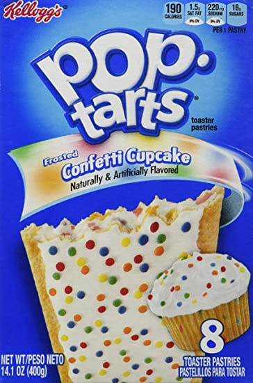 Amazon Kelloggs Frosted Confetti Cake 8 Count Pop Tarts