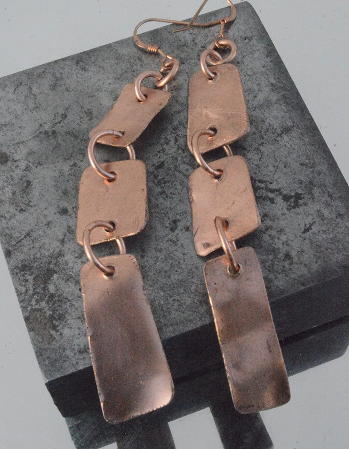 Recycled tribal copper drops