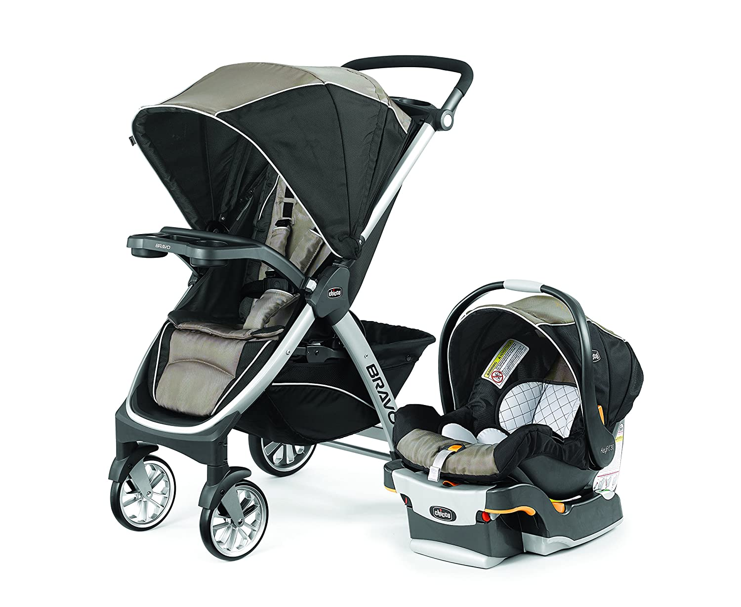 $419.99 (was $649.99) Chicco Bravo Kf30 Travel System Champagne, Black