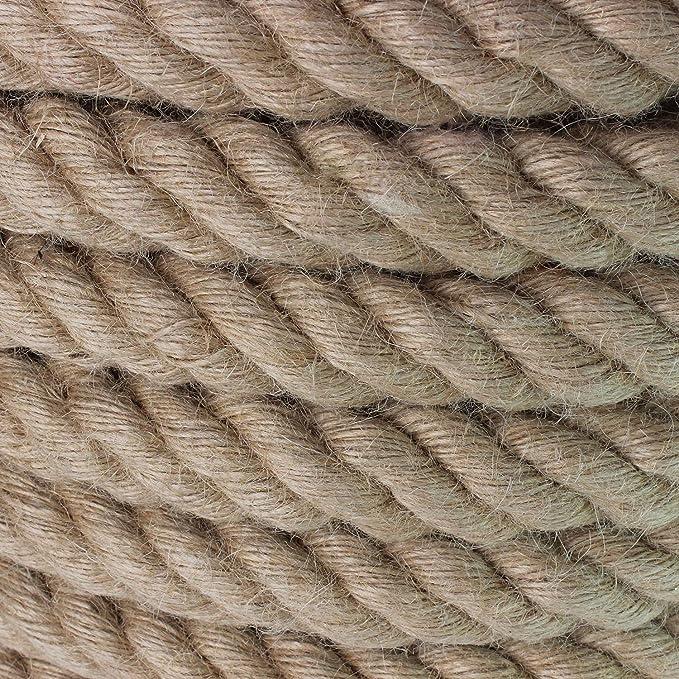 Ancla Hamaca Escalada N/áutico Dia 30mm Size : 10m Decorar Tira Y Afloja Natural Manila Cuerda De Yute Cuerda Natural Twine Cuerda Del C/á/ñamo 1,2 Pulgadas Arpillera Cuerda For La Artesan/ía