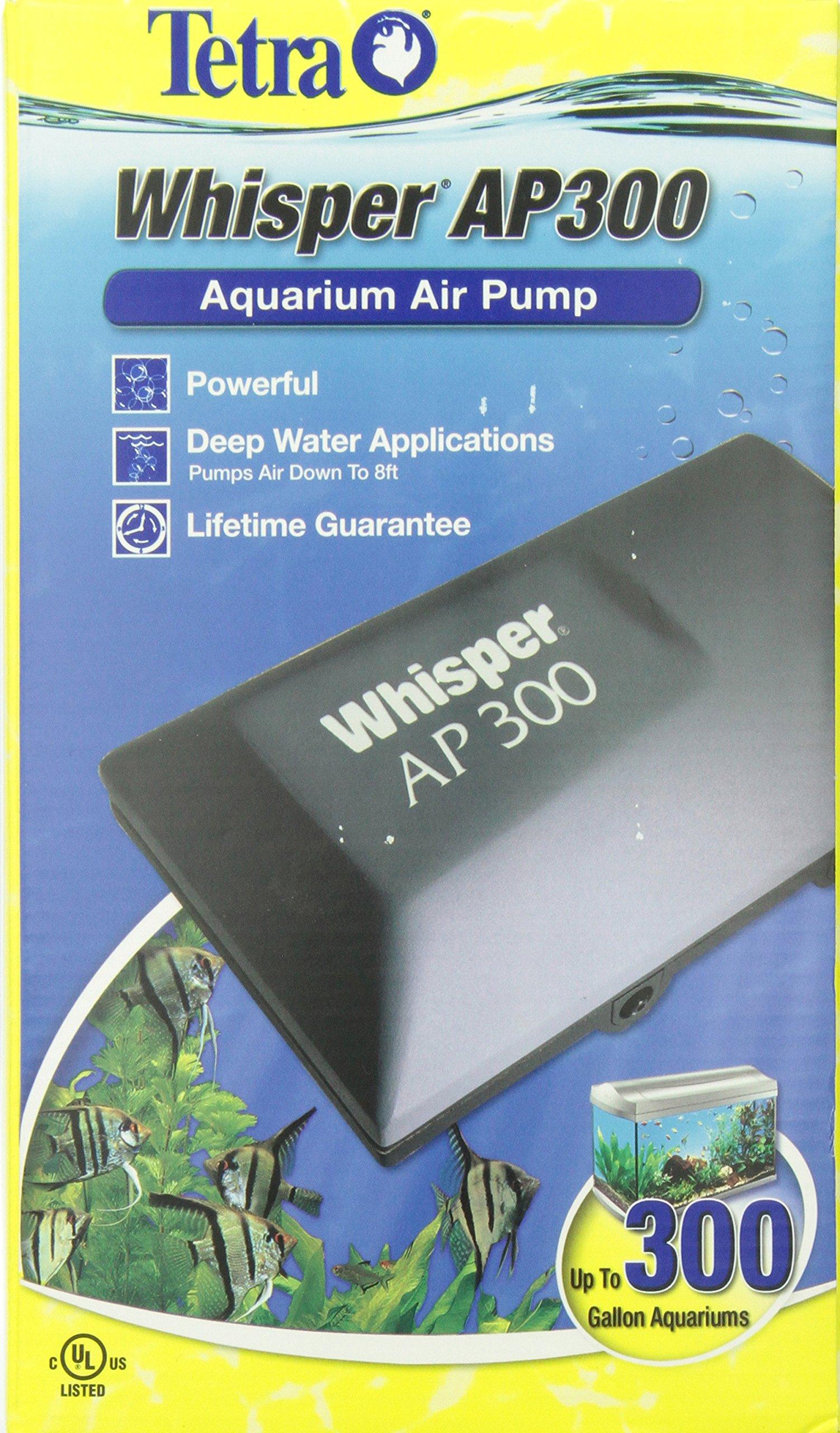 Tetra Whisper AP300 Aquarium Air Pump, for Deep Water Applications by Tetra