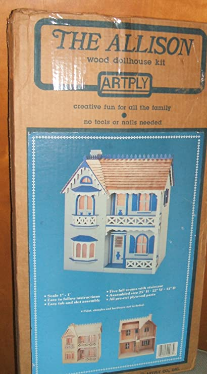 Amazon Com Vintage Dollhouse The Allison Wooden Doll House Kit