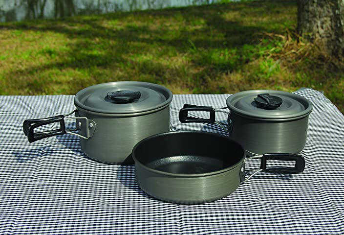 Texsport Black Ice The Scouter 5 pc Hard Anodized Camping Cookware