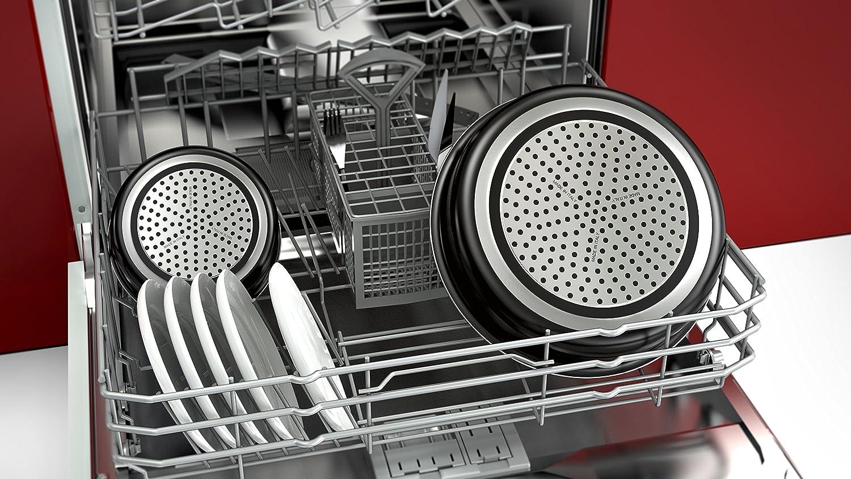 Set 8 Pi/èces Noir Set de po/êles et casseroles avec poign/ée amovible Tous feux dont induction