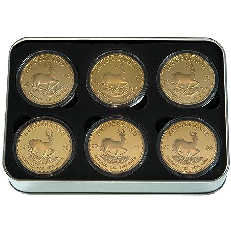 Geschenk Set Krügerrand Medaille Münzen 24 Karat Vergoldet