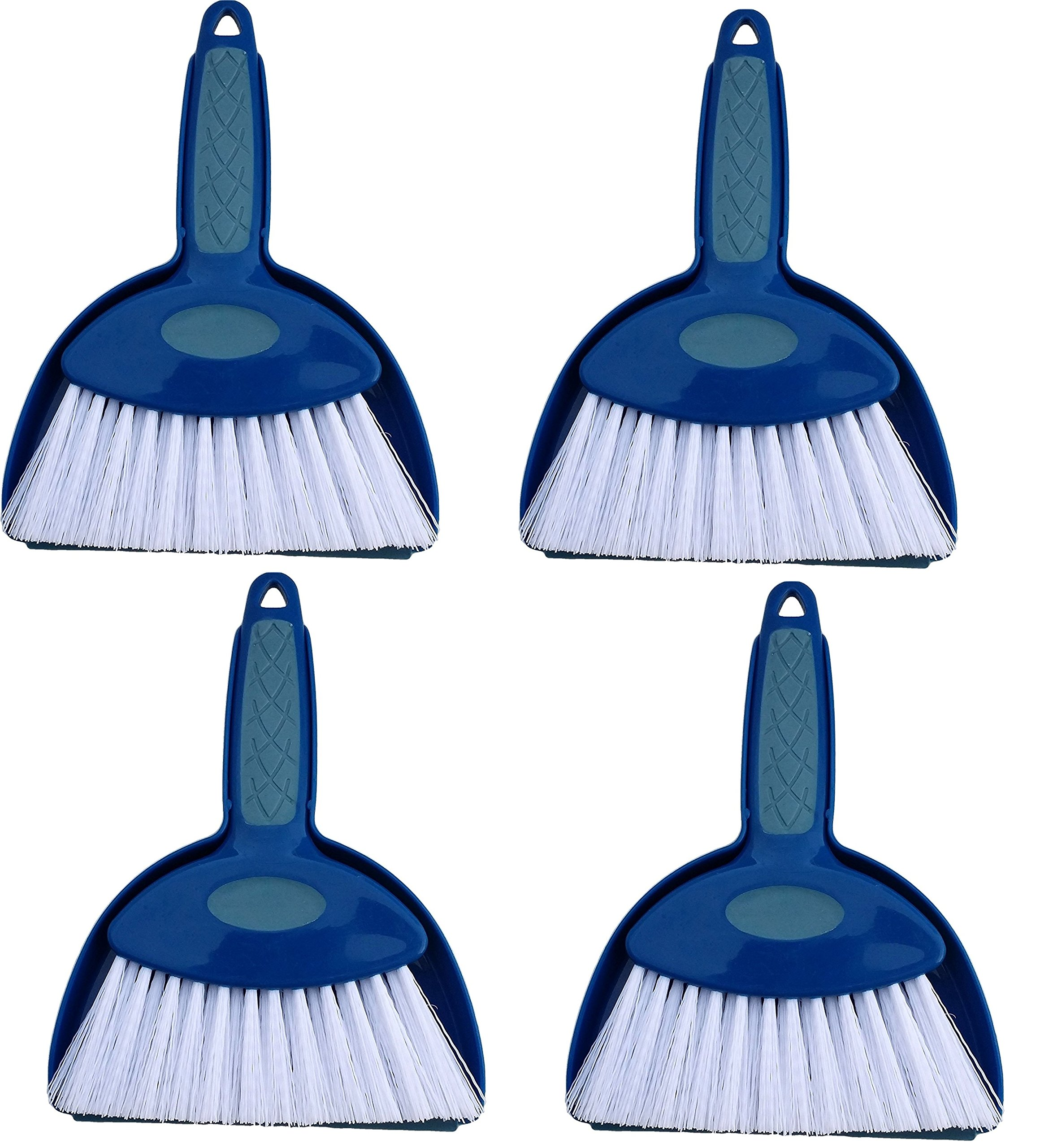 Hefty and Durable Small Hand Broom with Snap-on Dust Pan, Available in Various Package Quantities (4)