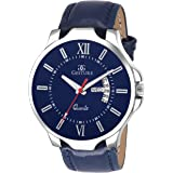 Gesture Blue Day and Date Strap Men's Watch 1105-Blue