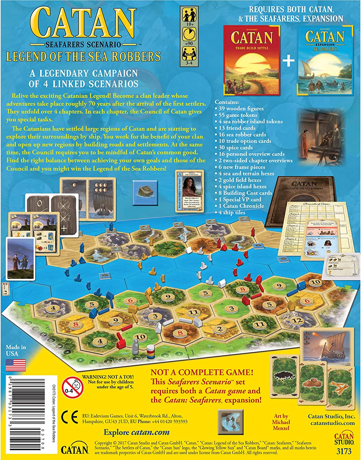 Mayfair Catan Legend of The Sea Robbers - English: Amazon.es: Juguetes y juegos