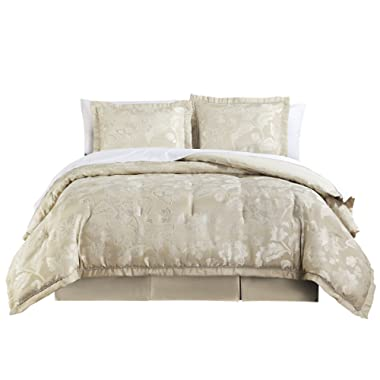 Marquis By Waterford Emilia Comforter Set Queen Cream