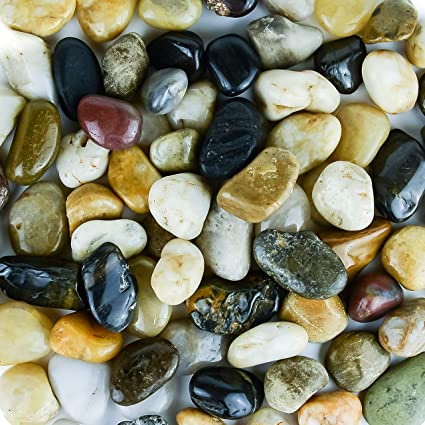 Galashield River Rocks Pebbles for Plants Natural Decorative Polished Stones for Planters Succulent Rocks Aquarium Gravel 5 lb Bag