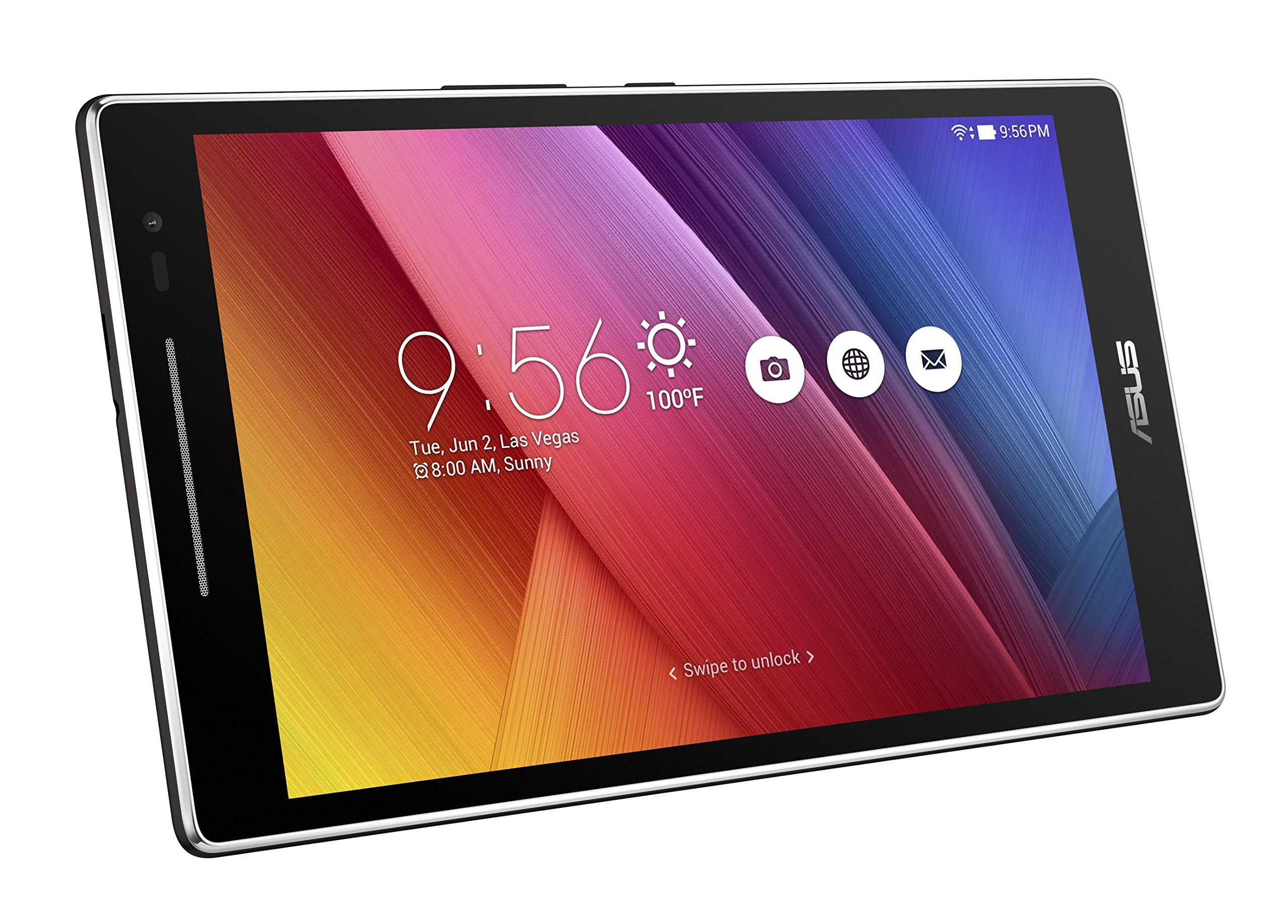 ASUS ZenPad 8 Dark Gray 8-inch Android Tablet [Z380M] 2MP Front / 5MP Rear PixelMaster Camera, WXGA TouchScreen, 16GB Onboard Storage, Quad-Core 1.3GHz Processor, 802.11a/b/g/n WiFi by Asus