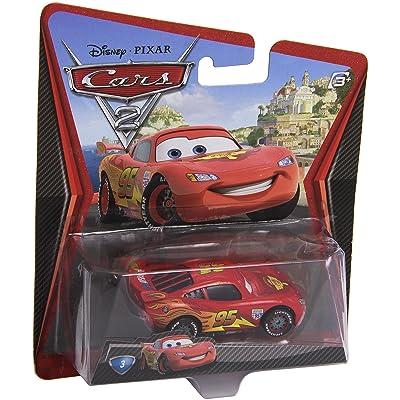 Disney/Pixar Cars 2, Lightning McQueen with Racing Wheels Die-Cast Vehicle #3: Toys & Games