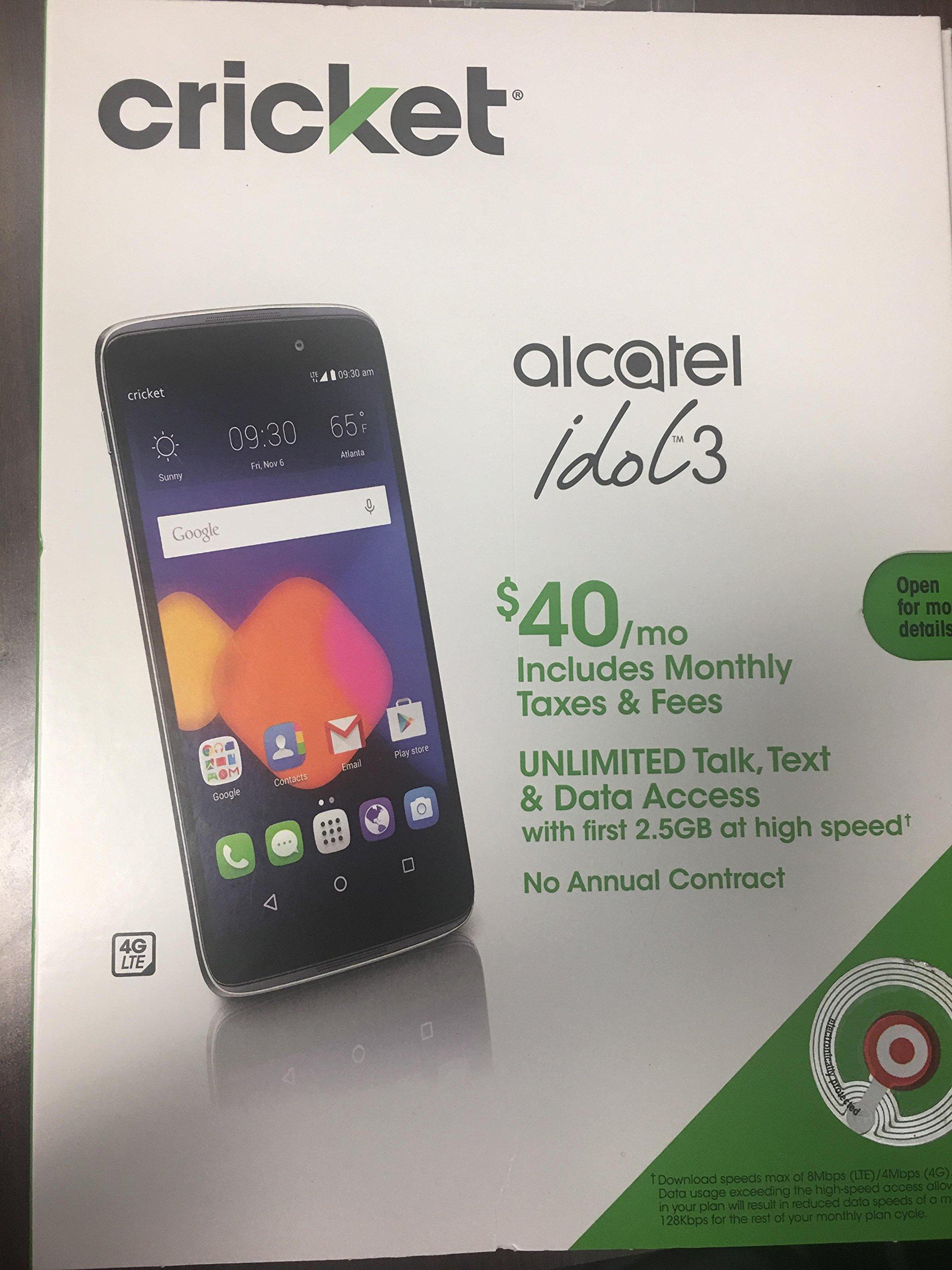 Galleon - Cricket Wireless - Alcatel One Touch Idol 3 4g Lte