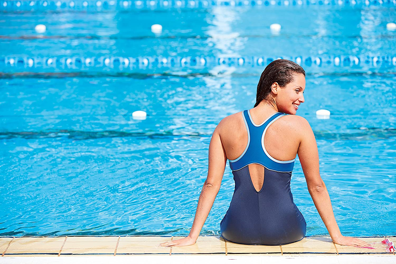 Zoggs Womens Torquay Chlorine Resistant Leg Suit Swimming Costume