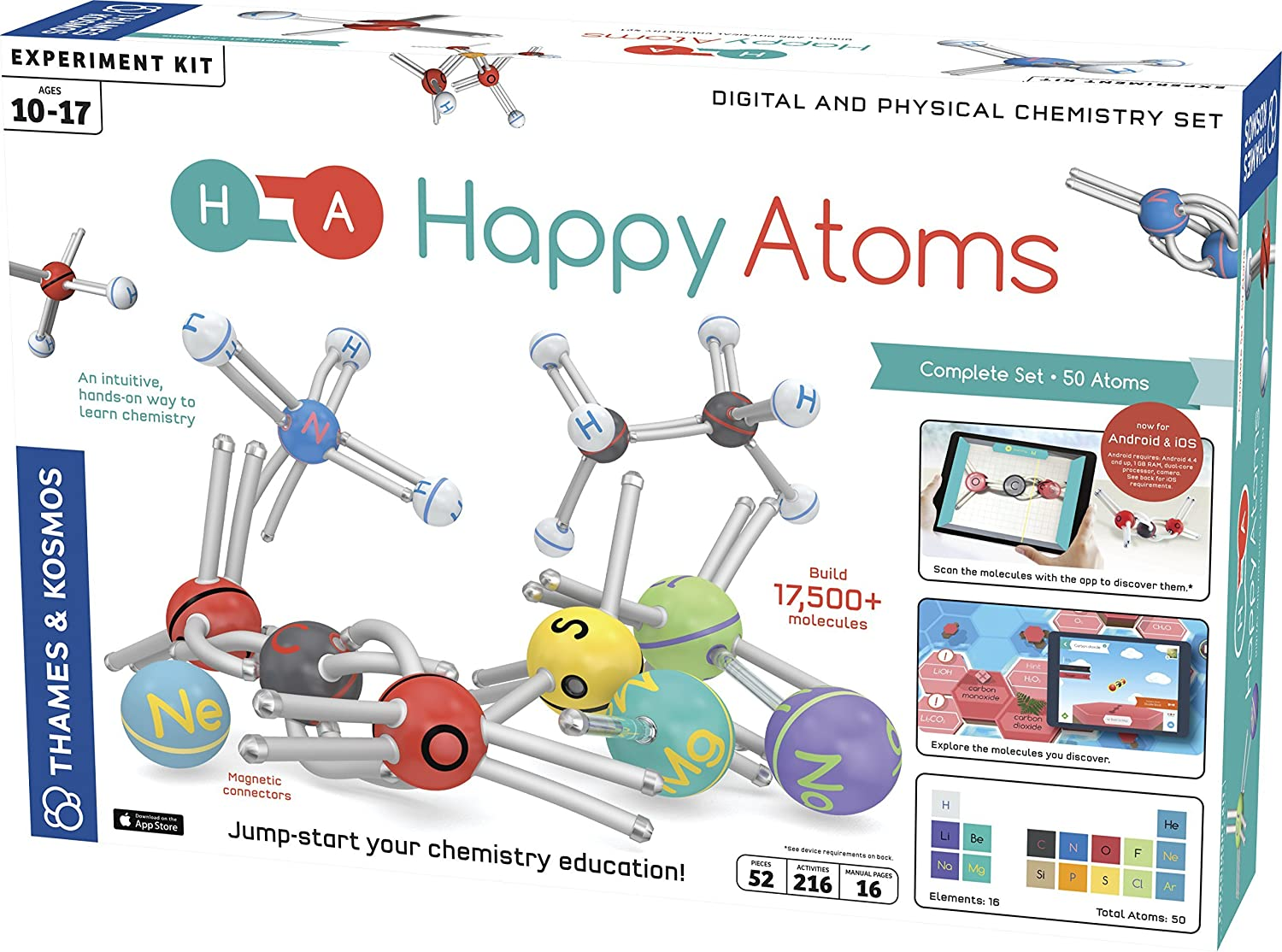 Happy Atoms Magnetic Molecular Modeling Set and iOS App