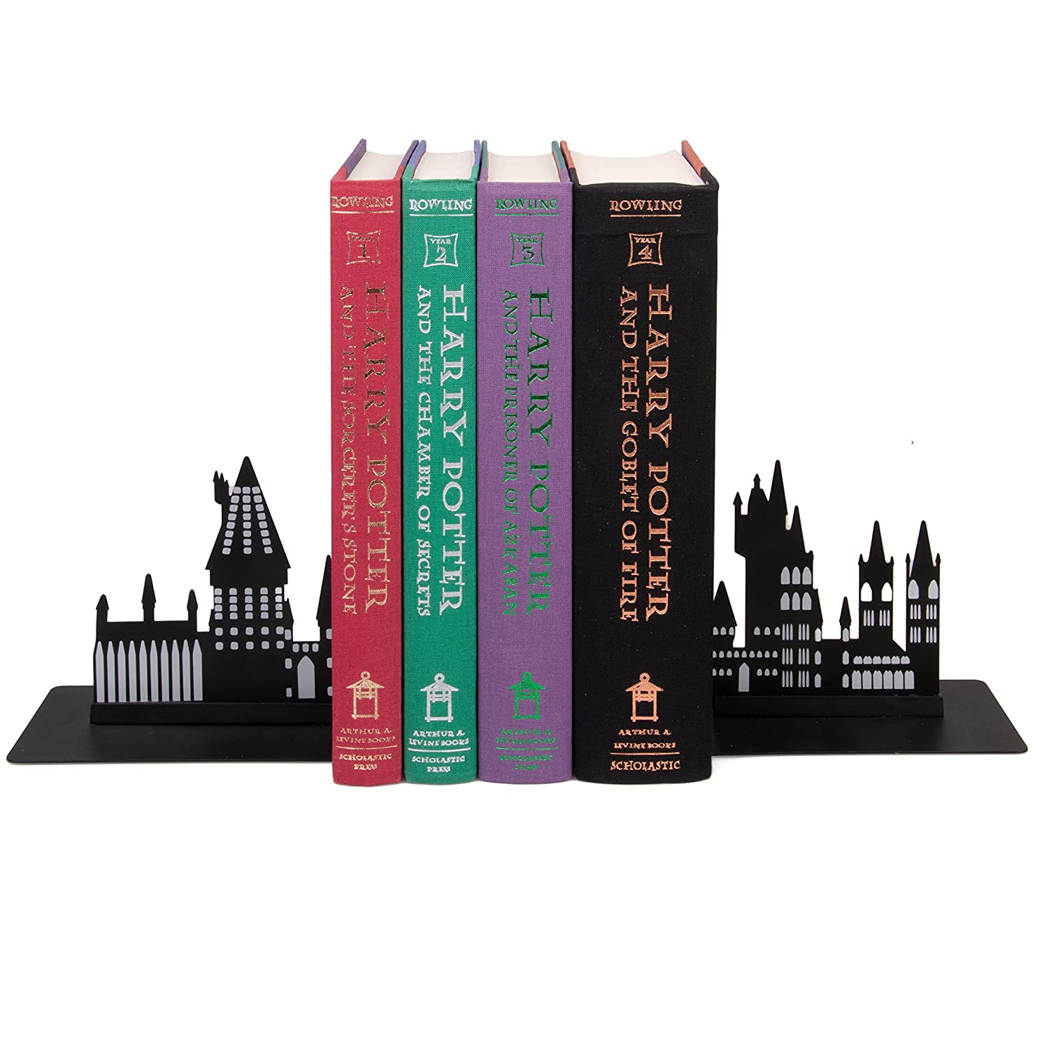 Harry Potter Hogwarts Bookends - Decorative Metal Hogwarts School Castle Design Seven20