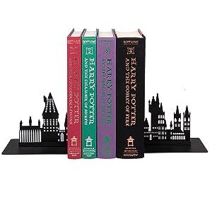 Harry Potter Hogwarts Bookends - Decorative Metal Hogwarts School Castle Design