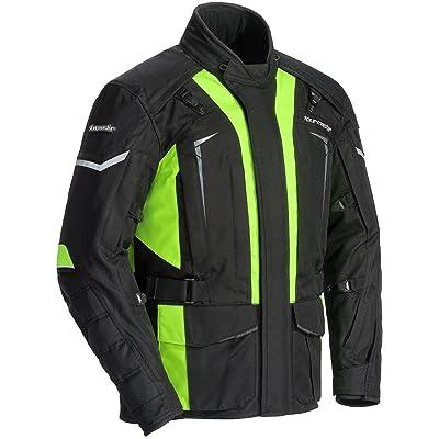 TourMaster Men's Transition Series 5 Jacket (Black/Hi-Viz, Large), 1 Pack