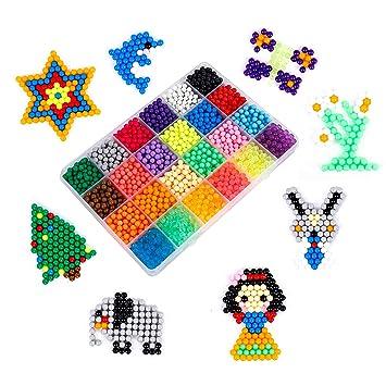 MaoXinTek Abalorios Cuentas de Agua Aquabeads DIY Educativos Artesanía Juguetes para Niños 24 Colors 3000pcs Craft Kit: Amazon.es: Juguetes y juegos