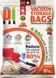 DIBAG ® Pack of 6 ( 70X50 cm) Vacuum Storage Space Saver Bags .For Clothes , Duvets, Bedding, Pillows, Curtains & More.