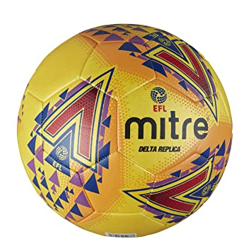 Mitre Mens Efl Delta Replica Training Football, Yellow, ...