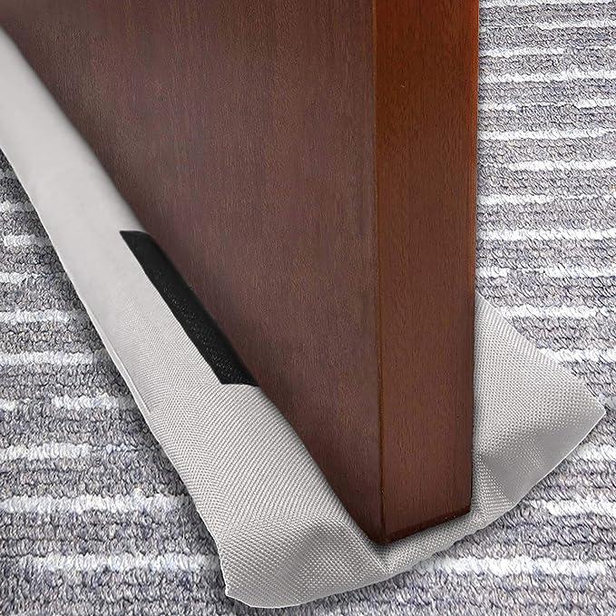Slashome - Tope para puerta de 91,44 cm, doble puerta, bloqueador de sonido, bloqueador de ruido de doble cara, lavable a máquina, apto para puerta por debajo de 1,81 cm: Amazon.com.mx: Hogar y Cocina