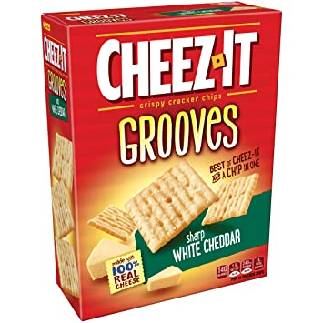 sharp white cheddar. cheez it grooves sharp white cheddar, 9 ounce cheddar r