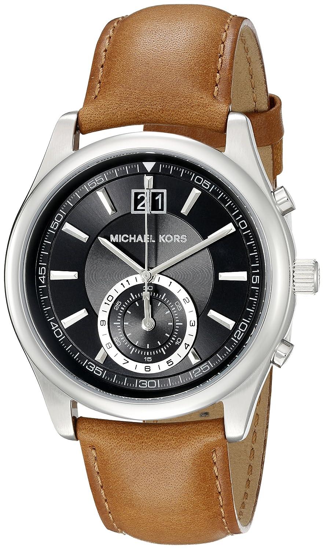 47784470e875 Michael Kors Men s MK8416 - Aiden Silver Brown Watch  Michael Kors   Amazon.ca  Watches
