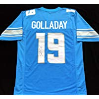 Kenny Golladay Signed Autographed Blue Football Jersey with JSA COA - Size XL - Detroit Lions Great photo