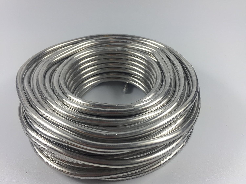 Aluminiumdraht Aludraht Basteldraht 3mm x ca. 53m Silber 1 KG ...