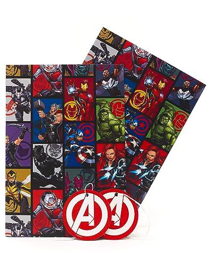 Papel de regalo de cumpleaños para niños, hojas de papel de regalo para niños, papel de regalo, cumpleaños, Avengers papel de regalo, para niños, ...
