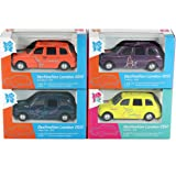 Set of 4 - Corgi London 2012 Destination London Taxi Diecast Collectable Models #33, #34, #35 & #36