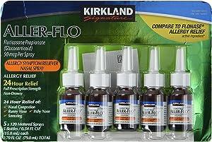 KIRKLAND SIGNATURE Kirkland Aller-Flo Fluticasone Propionate (Glucorticoid), 0.54 Fl Oz (Pack of 5)