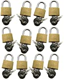 Amtech T0790 Brass Padlock, 20 mm, 12-Piece