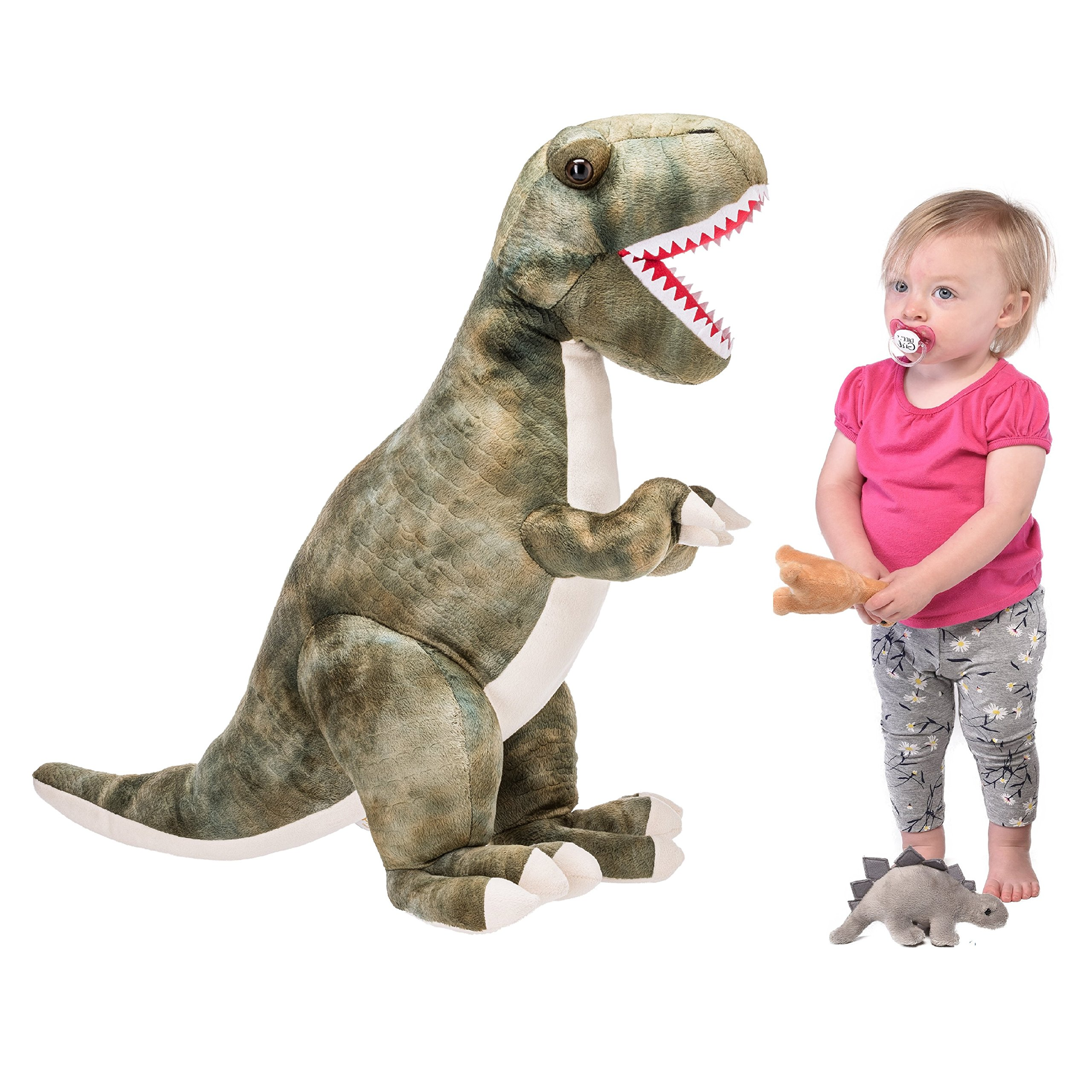 Prextex 24'' Giant Plush Dinosaur T-Rex Jumbo Cuddly Soft Dinosaur Toys for Kids by Prextex