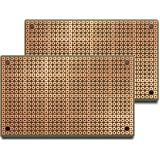 PAD1 (Two-Pack) PadBoard-1, Pad per Hole, 2 Sided PCB, Plated Holes, Size 1 = 50 x 80mm (1.97 x 3.15in)