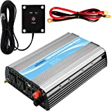 Giandel 1200Watt Power Inverter 24V DC to 110V 120VAC with Solar Charge Controller and Remote and Dual AC Outlets & USB Port
