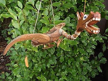 Dragon Mobile Wooden Garden Mobile Handmade In Bali 25cm Wide Wing Fairtrade